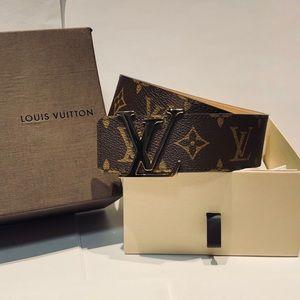 Louis Vuitton Brown Monogram LV Belt